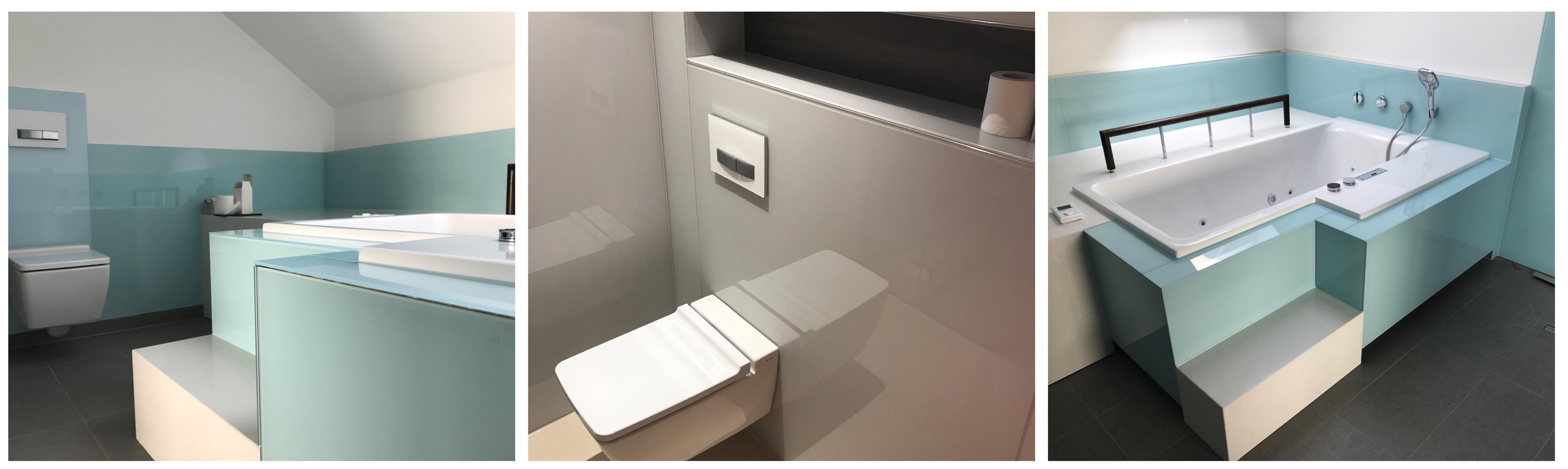 Glasrückwand für Dusche & Bad vom Fachbetrieb   Glas Hetterich
