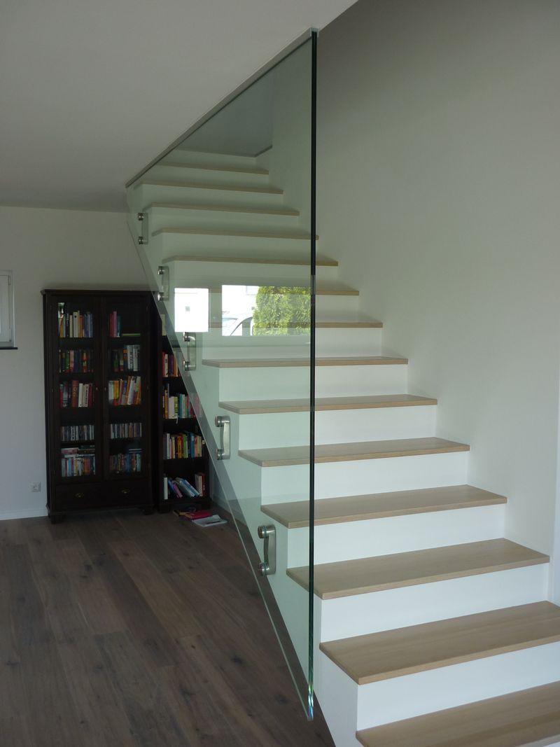 Gut bekannt Raumhohe Verglasung im Treppenhaus als Glasgeländer - Glas MH55